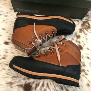 Timberland Junior shell-toe Euro Hiker Boots